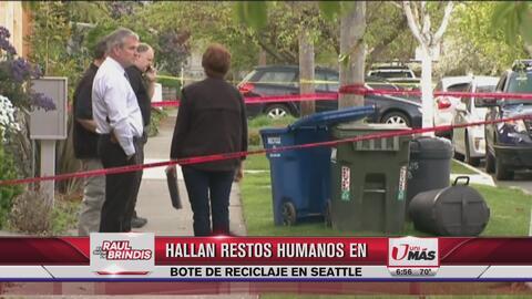 Hallan restos humanos en bote de reciclaje