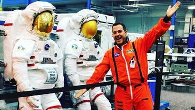 Carlos vivió una aventura de otro mundo: esto pasó en su visita al Johnson Space Center de la NASA en Texas