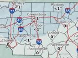 Sistema invernal deja lluvias y algunos copos de nieve al norte de Carolina del Norte