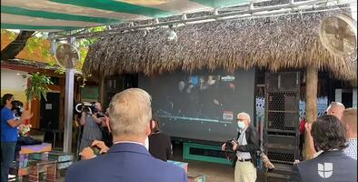 Demócratas en Miami-Dade se reúnen en Wynwood para ver la toma de posesión de Jode Biden