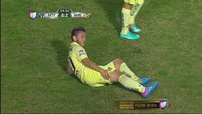 Grave lesión de Gonzálo Díaz en el Monterrey vs. América