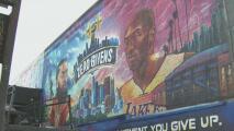 Los inmensos murales con los que aficionados recuerdan a Kobe Bryant al cumplirse un año de su muerte