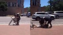 (VIDEO) Graban momento en que policía usa extrema fuerza y 'taser' contra joven que corría bicicleta