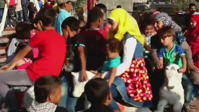 Imágenes de esperanza en Alepo: los niños vuelven a jugar en las calles