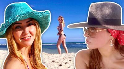 Galilea Montijo y Andrea Legarreta muestran lo bien que se llevan durante un fin de semana de playa