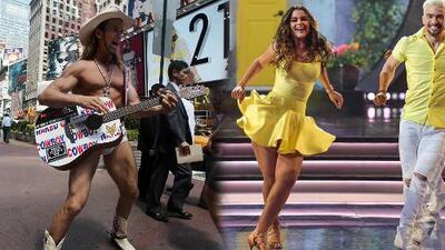 Clarissa Molina tiene enamorado al 'Naked Cowboy' con sus movimientos en Mira Quién Baila All Stars