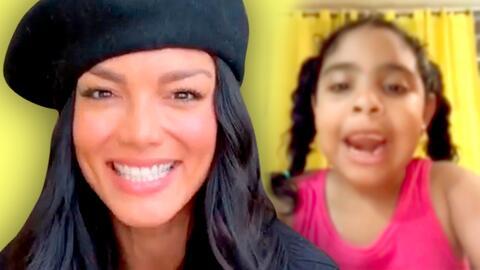 """Tu baile es ma-ra-vi-llo-so"": esta niña le pidió a Zuleyka Rivera que la enseñe a bailar (y así le respondió)"