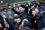 Soccer Football - Champions League - Group Stage - Group G - CSKA Moscow v Viktoria Plzen - Luzhniki Stadium, Moscow, Russia - November 27, 2018 Fans before the match REUTERS/Sergei Karpukhin