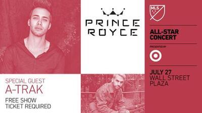 La estrella latina Prince Royce será la atracción principal del MLS All-Star Game