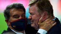 ¿Seguirá Koeman? Laporta se reunió con el DT del Barça este jueves