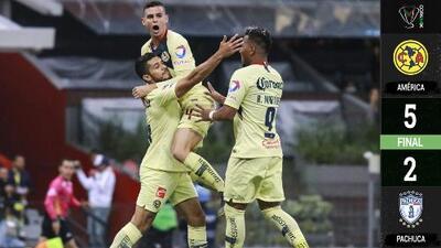 América 5-2 Pachuca - GOLES Y RESUMEN - OCTAVOS DE FINAL - Copa MX