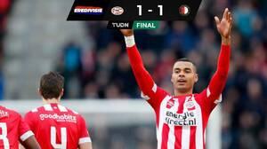 Sin Erick Gutiérrez, PSV empató en casa con el Feyenoord