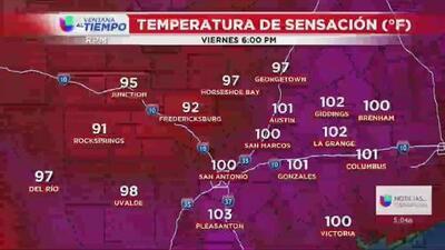 El centro de Texas tendrá un fin de semana muy caluroso