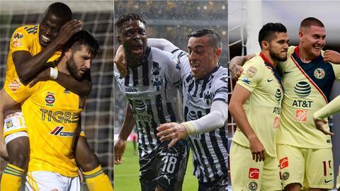 América, Chivas y Cruz Azul anotan menos en casa que Tigres y Monterrey