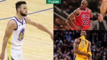 Curry destroza récords de Kobe Bryant y Michael Jordan
