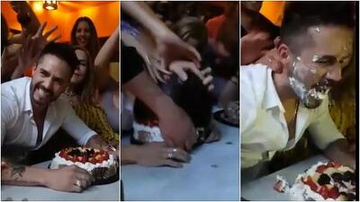 José Ron festeja su cumpleaños 36 con tremendo pastelazo y tenemos el video