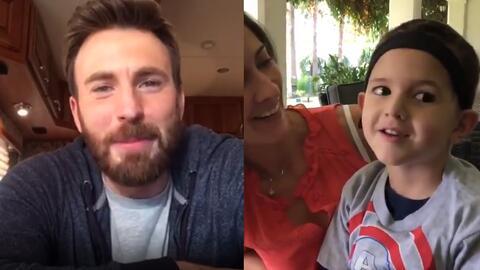 Chris Evans le envía un motivador mensaje a Pipe, un niño salvadoreño que lucha contra un tumor