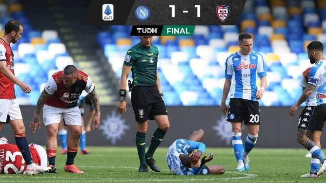 En mal partido del Chucky, el Napoli dejó ir el triunfo ante Cagliari