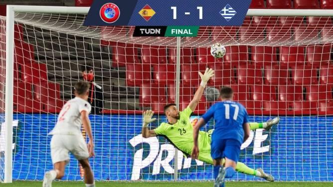 Grecia consigue un punto de oro al empatar 1-1 ante España