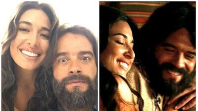 Guilherme Winter y Giselle Itié son pareja dentro y fuera de 'Los diez mandamientos'