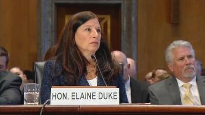 Los pasos de Elaine Duke, quien asume interinamente el Departamento de Seguridad Nacional