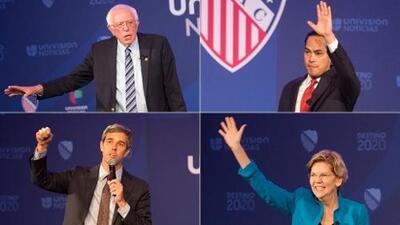Inmigración, economía y salud: cuatro precandidatos demócratas hablaron a hispanos en un foro de Univision y LULAC