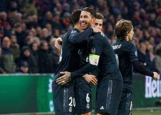 En fotos: Real Madrid abraza la clasificación tras vencer de visitante al Ajax en Champions