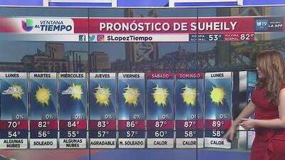 Se esperan nublados para este lunes en Sacramento