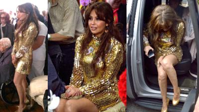 Thalía tiene razón (los demás se equivocan): el acierto de su vestido dorado en la fiesta de su abuela
