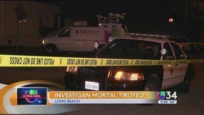 La Policía investiga un mortal tiroteo en Long Beach