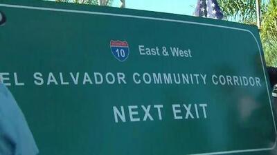 Inauguran el 'Corredor Salvadoreño' con un gran anuncio en una importante zona de Los Ángeles