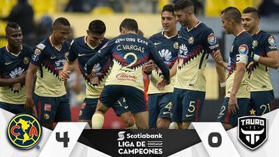 Fiesta en América: Las Águilas se dieron vuelo goleando 4-0 al Tauro FC
