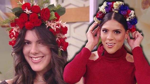 Francisca Lachapel aprendió cómo armar coronas de flores naturales en casa y sin gastar mucho dinero