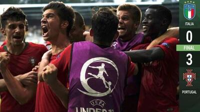 Portugal 3-0 Italia - RESUMEN Y GOLES – Grupo A - Euro Sub-19