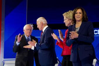 En fotos: Así transcurrió el tercer debate presidencial demócrata organizado por Univision y ABC en Houston