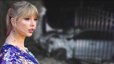 Así quedó el auto robado que se estrelló contra la mansión de Taylor Swift en Rhode Island