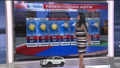 Mira las condiciones climatológicas para este jueves en Austin