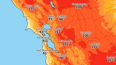 Alerta por ola de calor e incendios: prevén temperaturas de 105° F este fin de semana en el norte de California