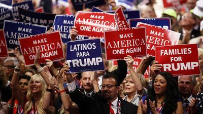 Republicanos hispanos que cerraron filas detrás de Trump, pese a su discurso más antiinmigrante