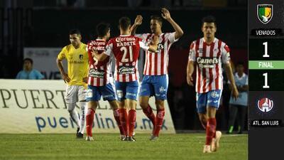 Atlético de San Luis empató en casa de Venados y llega con ventaja a la vuelta