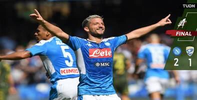 Sin el Chucky Lozano, Napoli derrotó al Brescia
