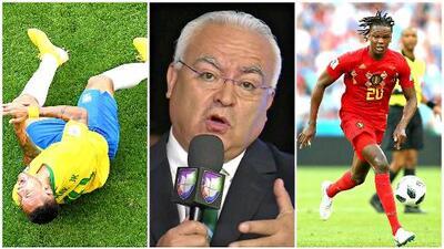 """Luis Omar Tapia advirtió que Neymar no podrá vencer con sus """"mañas"""" a los defensas de Bélgica"""