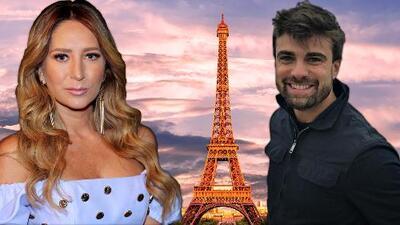 En su última semana libre, Geraldine Bazán coincide con Santiago Ramundo en París
