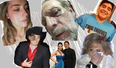 La lamentable y larga lista de celebridades que han protagonizado escándalos por violencia doméstica