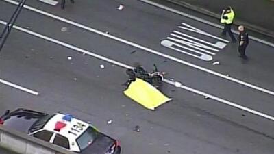 'Miami en un Minuto': un motociclista muere en aparatoso accidente vial que también provocó caos en la movilidad