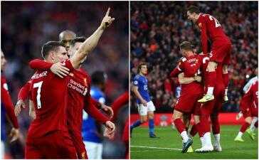 Liverpool vence en casa a Leicester 2-1 y aún no conocen la derrota
