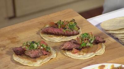 La receta: tacos de churrasco