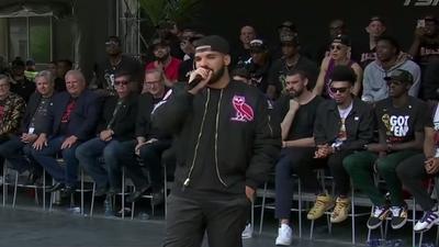 Drake gave a speech at the Raptors championship celebration
