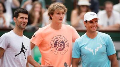 Djokovic-Nadal-Zverev, el podio de la ATP antes de la temporada de tierra