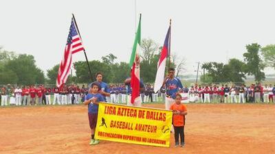 Apertura de Liga Azteca de Béisbol en Dallas
